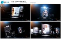 AE CS6黑色商务玻璃图文展示视频