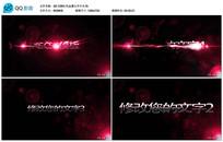 AE CS6红色金属文字片头视频