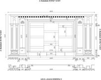 奥特曼大理石电视背景CAD专业设计图