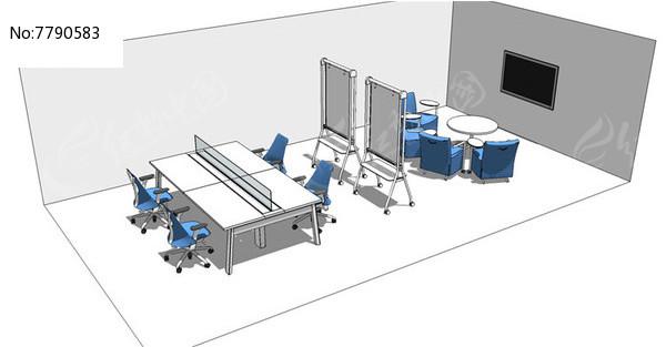 办公会议室空间SU图片