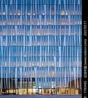 玻璃大楼建筑立面