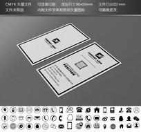 创意黑白二维码名片