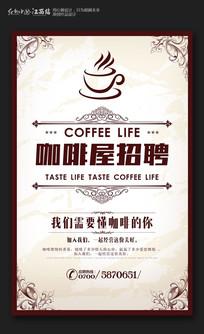 创意咖啡屋招聘海报