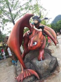 动漫人物主题雕塑