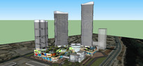高层商场模型