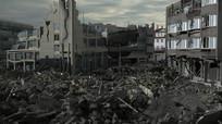 建筑垃圾房子废墟3D模型 max