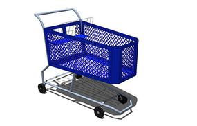 蓝色购物车