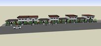 临街中式住宅模型