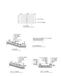 台阶铺装 CAD