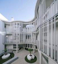 现代镂空建筑立面装饰 JPG