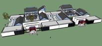 中式合院建筑模型
