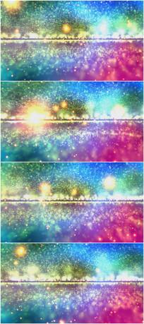 2k超清五彩炫美粒子宇宙星空背景视频素材