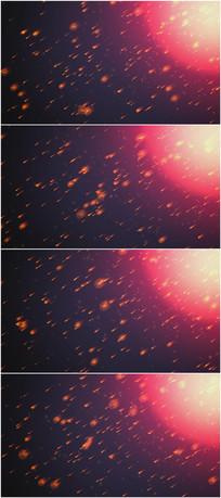 2k超清陨石降落震撼背景视频素材