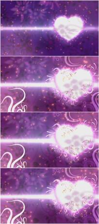 2k超清紫色爱心情人节背景视频素材