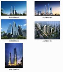 北京某综合体建筑效果图 JPG
