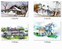 别墅景观设计效果图手绘