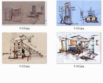 创意景观室内设计透视图 JPG