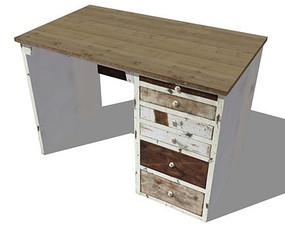 复古木质学习桌