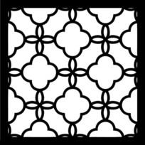 海棠花图案古典窗