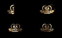 婚礼字体带alpha通道视频