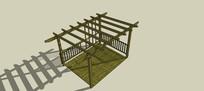 简易传统廊架模型