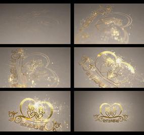 金色粒子婚礼片头视频