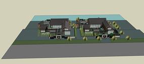 临水别墅模型