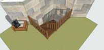 木制阁楼楼梯