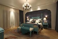 深色欧式卧室