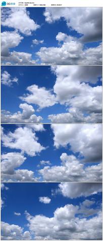 实拍蓝天白云视频
