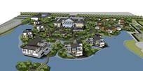 温泉区域规划模型