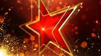 五角星警徽演绎片头视频素材