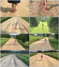 可爱小宝宝光脚走路视频