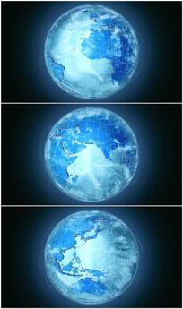 科技地球旋转背景视频