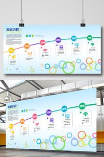 企业文化公司发展历程展板