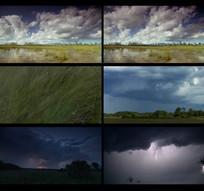 延时打雷下雨风景实拍视频