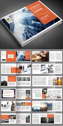2017红色企业画册宣传册PSD模板