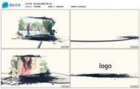 AE CS6水墨图文展示视频