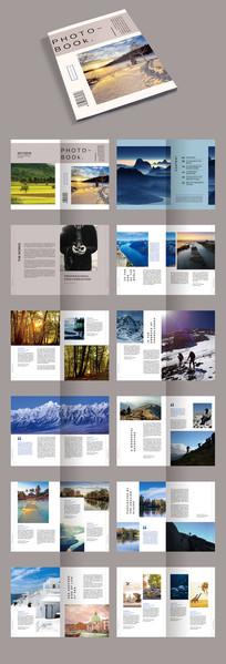 创意简洁摄影集毕业作品集PSD模板