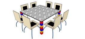 积木型儿童趣味学习桌椅