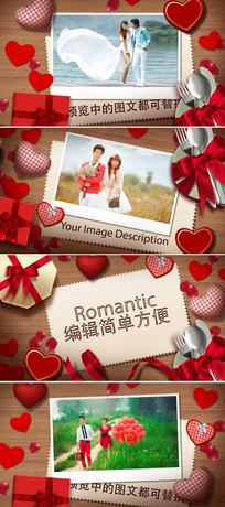 浪漫情人节婚礼贺卡相册片头模板