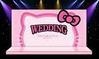 唯美粉色婚礼婚庆主舞台背景设计