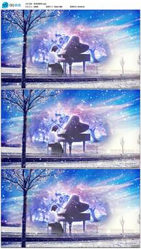唯美浪漫弹钢琴下雪视频