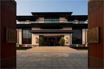 中式别墅住宅大门入口