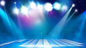 DJ舞台灯光闪耀音波跳动感视频