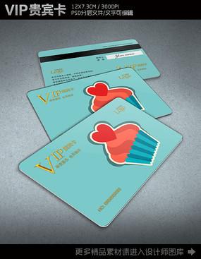 蛋糕店VIP会员卡设计模板