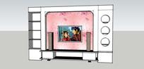 电视墙效果的SU模型设计