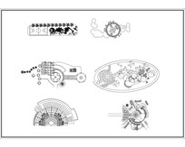 多款广场节点CAD
