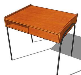 简约木质学习桌装饰架