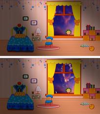 卡通宝宝卧室类LED背景视频